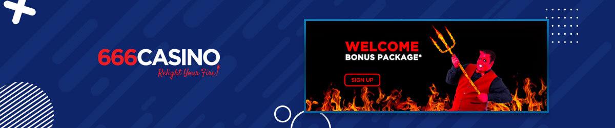 666 Casino welcome bonus