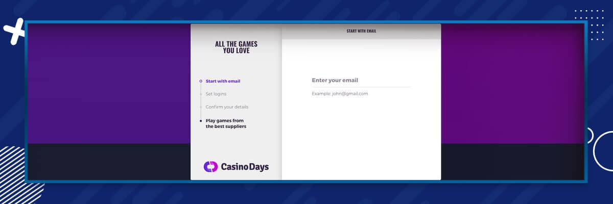 CasinoDays Registration