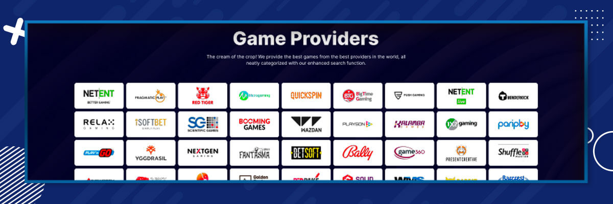Casino Friday game providers!