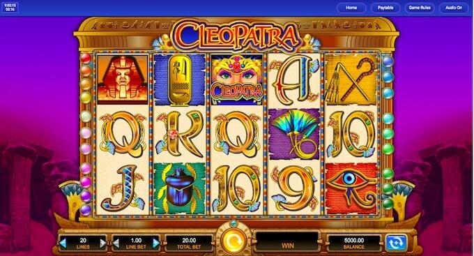 Play cleopatra slot from New Zealand