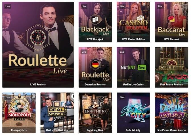 Dunder live dealer casino