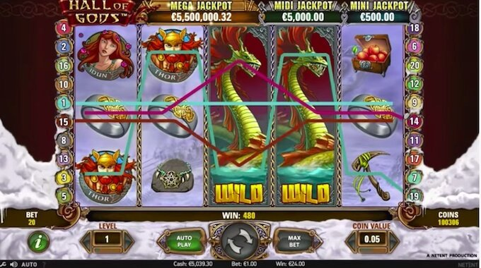 Hall of Gods slot review - wild feature