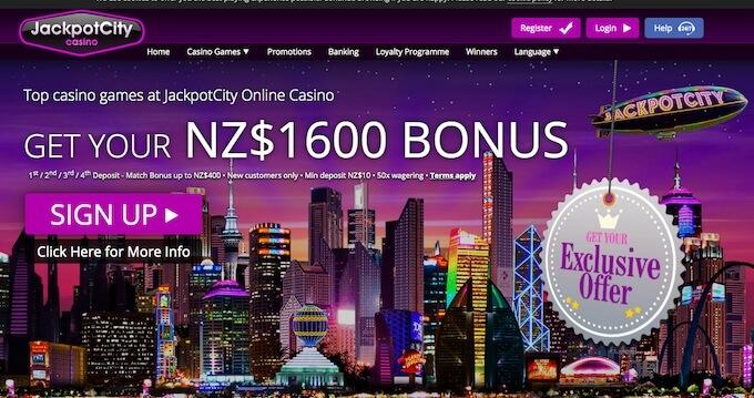 jackpotcity casino nz bonus