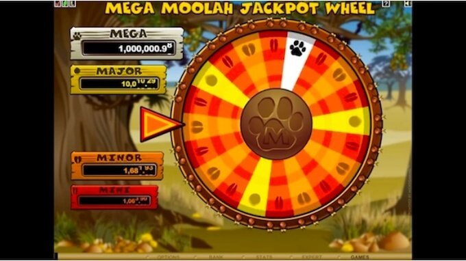 mega moolah how to get the wheel