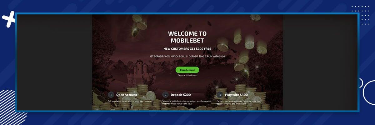 MobileBet welcome bonus