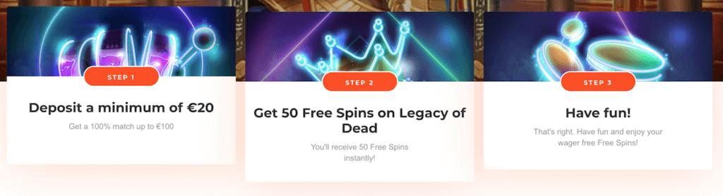 21nova no wager free spins