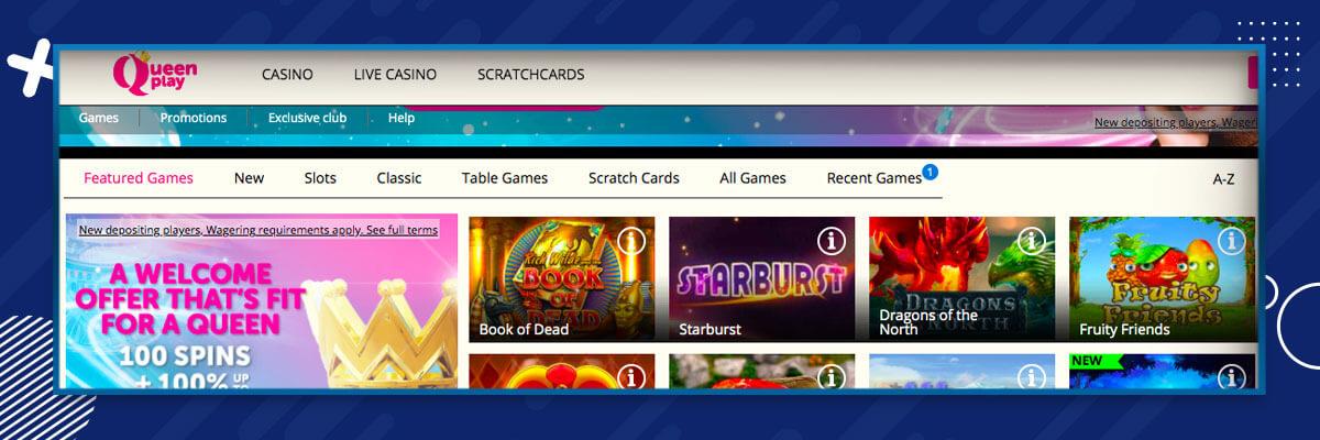 Queenplay Casino Games