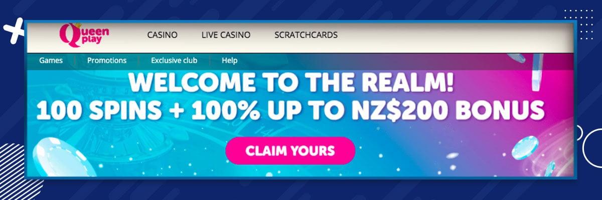 Queenplay Casino Bonus NZ