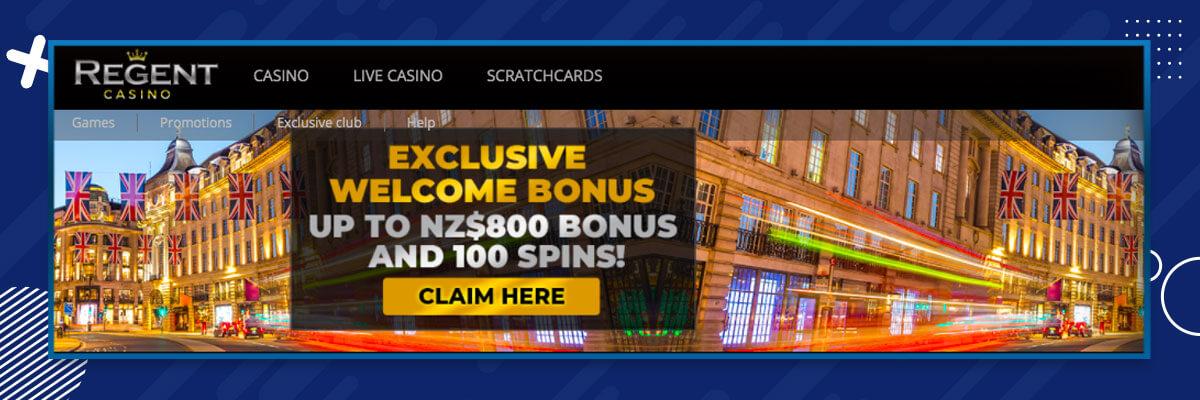 Regent Casino welcome bonus