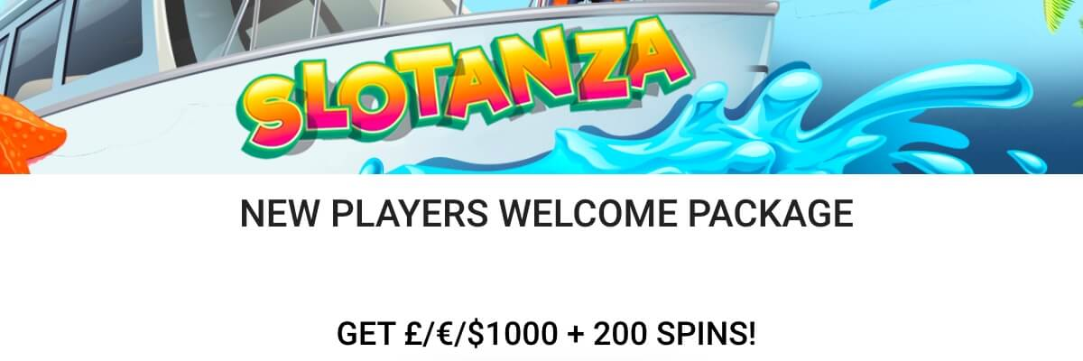 Slotanza Welcome bonus