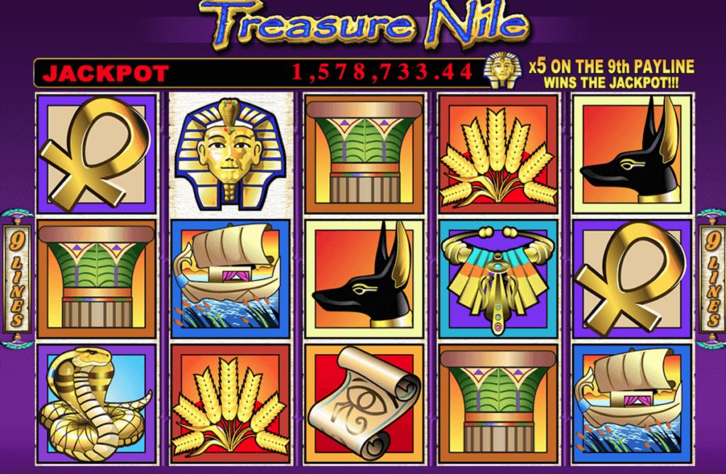 treasure nile slot nz